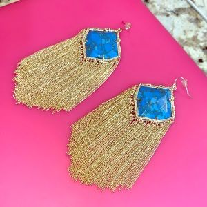 *RARE* Kendra Scott Kingston gold earrings